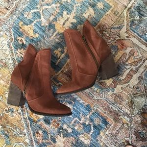 Anthropologie Seychelles Suede Lori Penny Boots